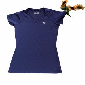 💙Under Armour Fitted Heat Gear Tee Purple XS